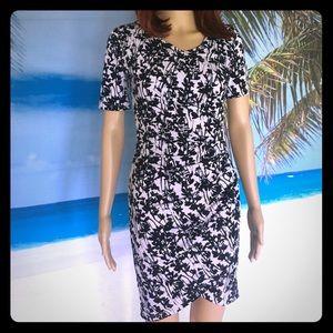 Dresses & Skirts - Black & pink patterned dress size XS